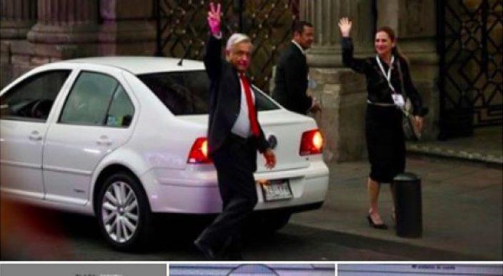 ¿El auto de López Obrador acumula multas? ¿Se fue a celebrar al Zócalo tras el debate?