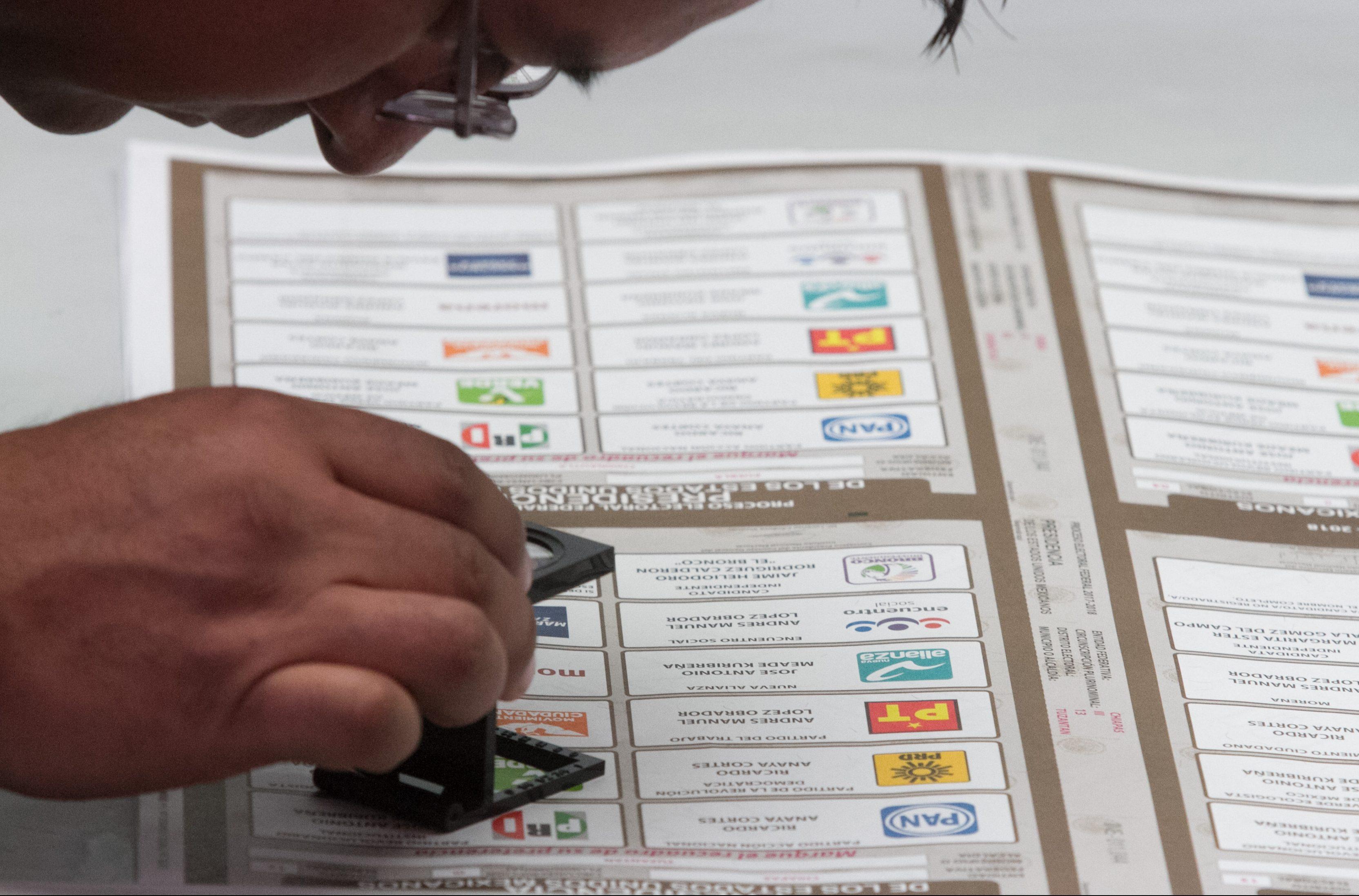 """¿Para votar por un candidato de coalición se marca con una o varias """"X"""" la boleta electoral?"""