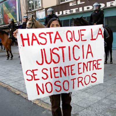 Justicia ciega frente a diferencias, desigualdades y violencia