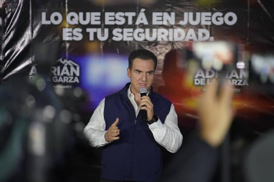 ¿El priista Adrián de la Garza ganó a la  delincuencia como asegura en su spot?
