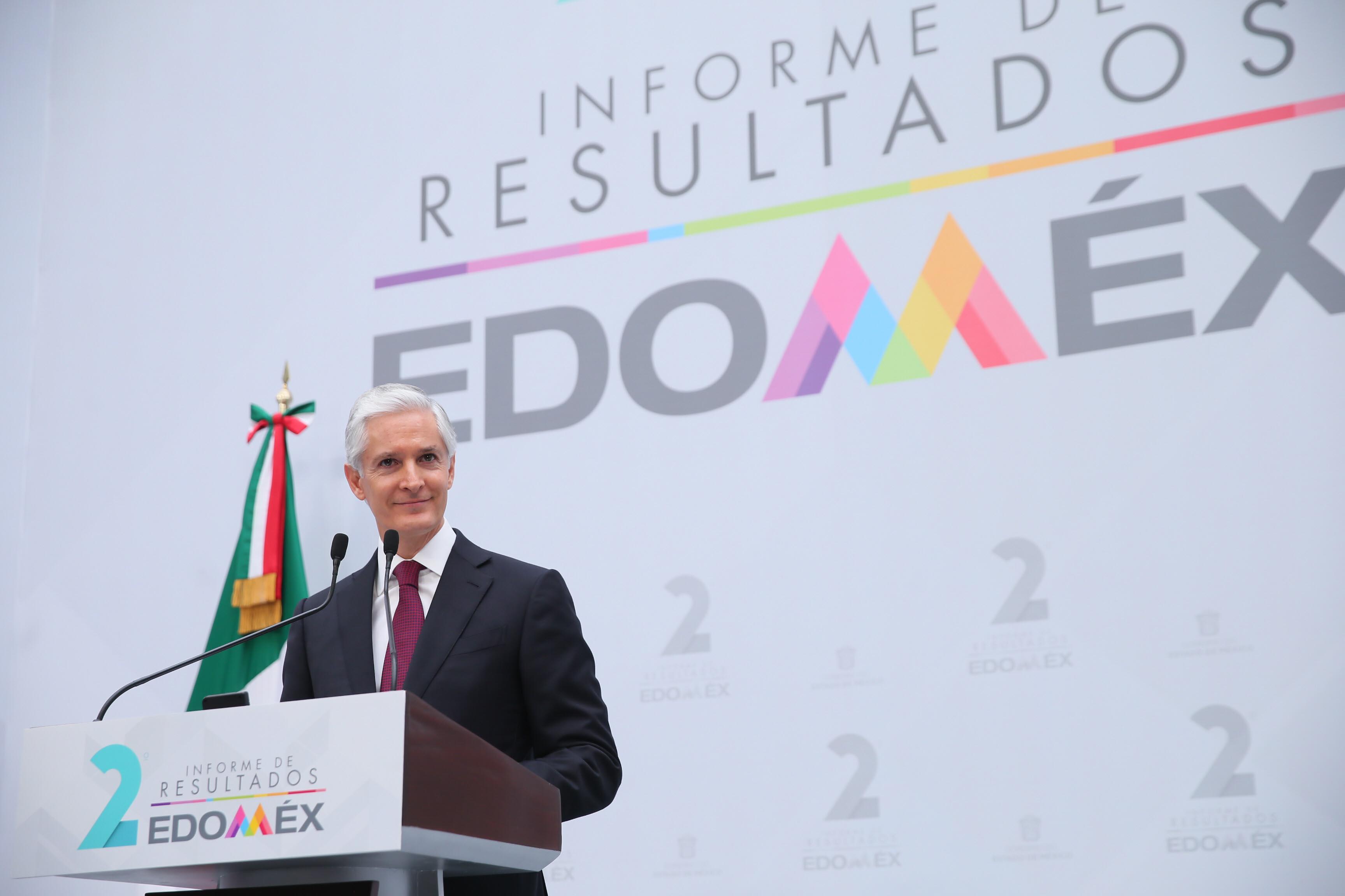 ¿Qué dijo de cierto o falso Alfredo Del Mazo en su Segundo Informe?