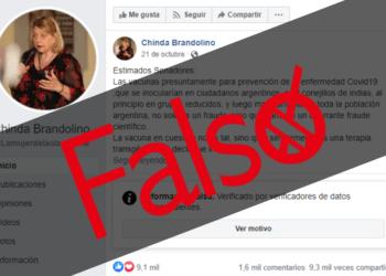 Chinda Brandolino Vacunas Covid19 Falso